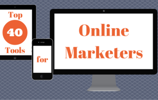 Top 40 Tools for Online Marketers