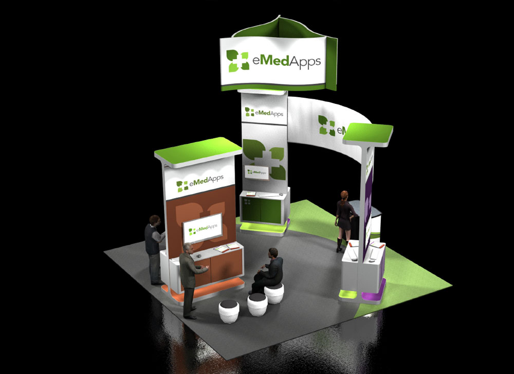 Trade Show Booth Layout : Emedapps trade show booth cq marketing
