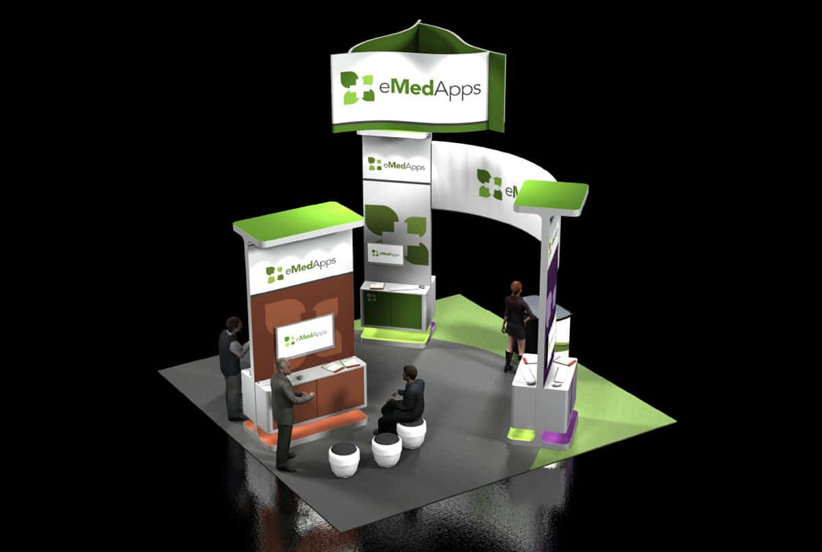 eMedApps Trade Show Booth Design Side View