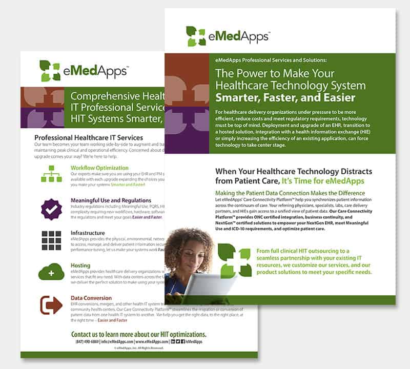 eMedApps brochure designs